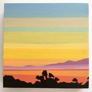 "Tilden Park, acrylic on panel, 6x6"" 2018"