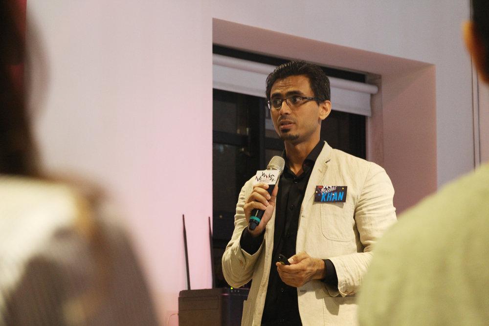 STYLYを運営するPsychic VR Labのグローバルマネージャー、Sajid Khanさん