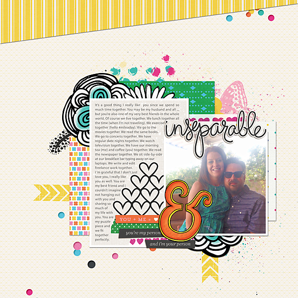 Simple Scrapper May Layout | Kimberly Kalil Designs