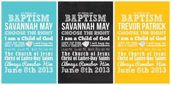 Kimberly Kalil Designs LDS Baptism Prints