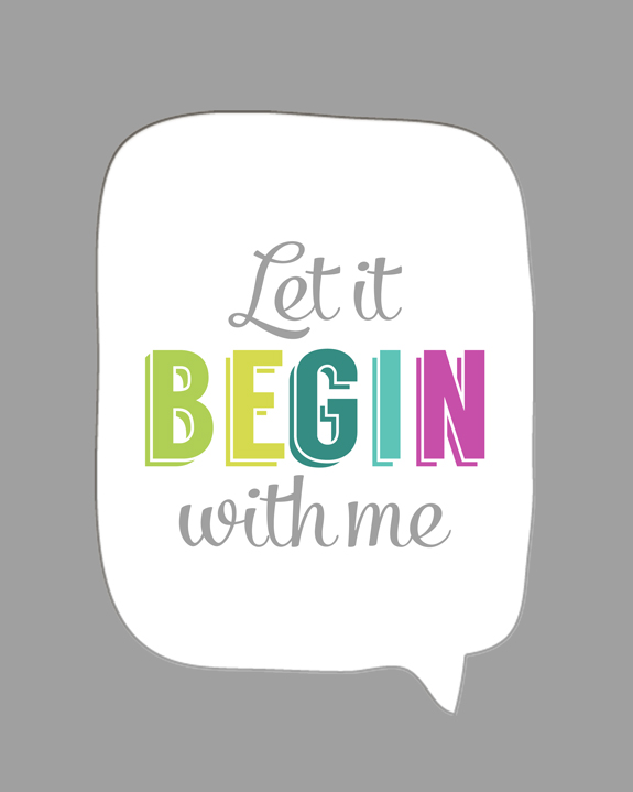 Kimberly Kalil Designs: Let It Begin With Me
