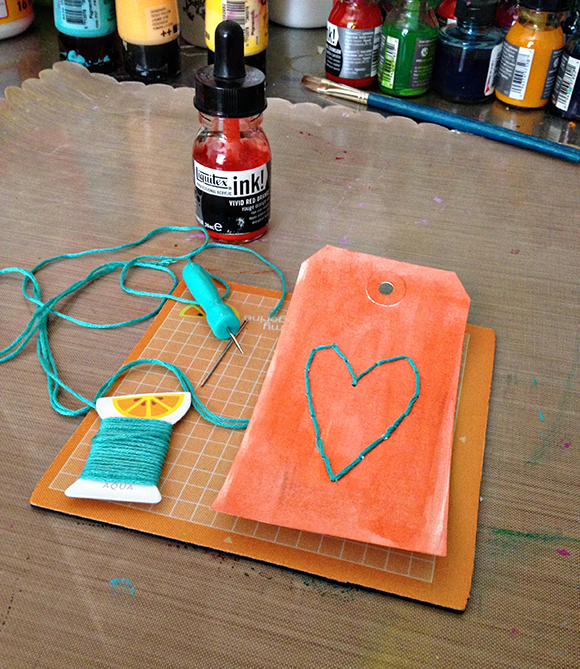 Kimberly Kalil Designs | Upcycled Frame | Amy Tangerine Plus One