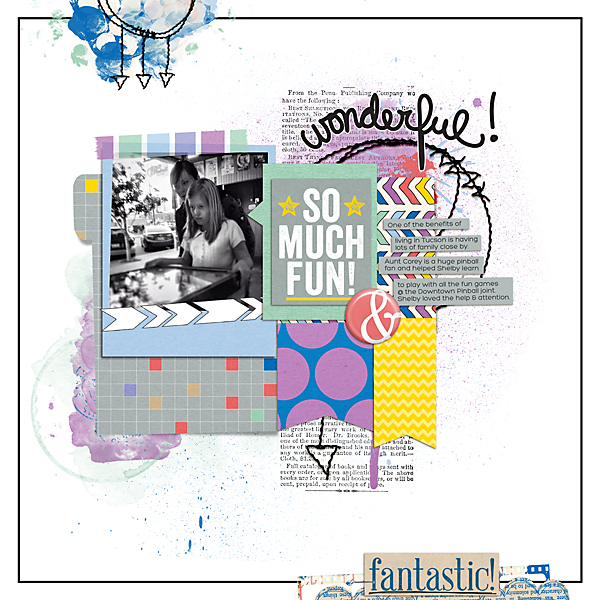 Layout using March 2014 Digi Files | Kimberly Kalil Designs