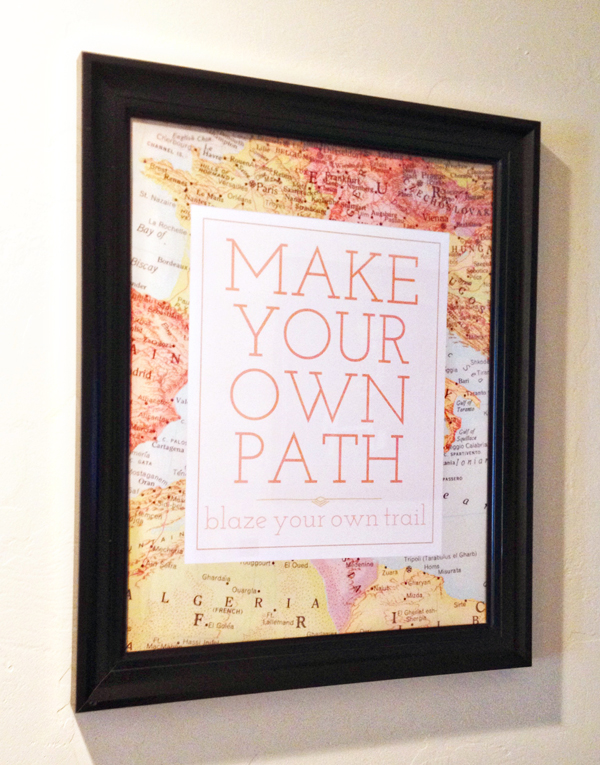 Make Your Own Path Digital Art | Kimberly Kalil Designs