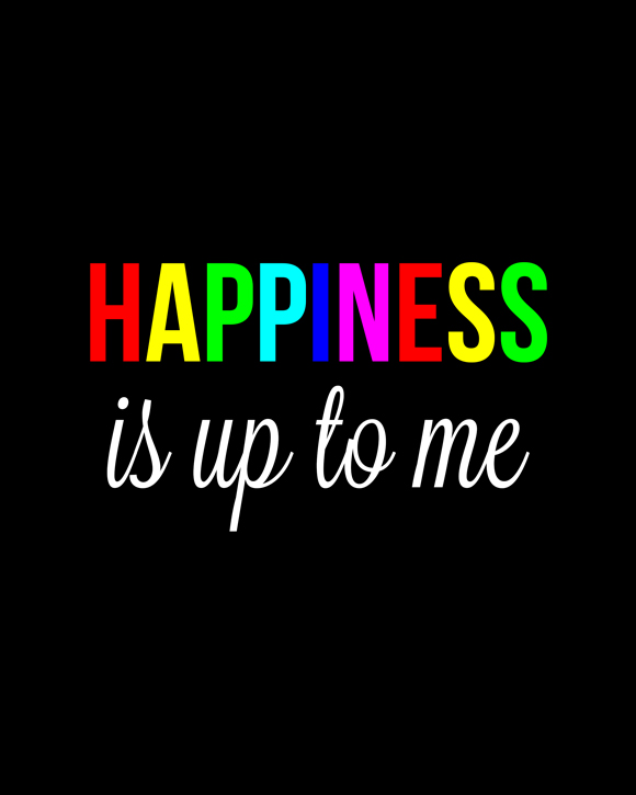 Etsy |Hapiness is up to Me Art Print | Kimberly Kalil Designs