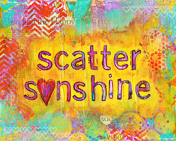 Scatter Sunshine | Mixed Media Art Print | Kimberly Kalil Designs