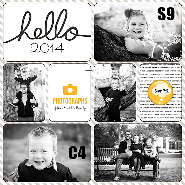 Project Life 2014 | Opening Page | Kimberly Kalil Designs