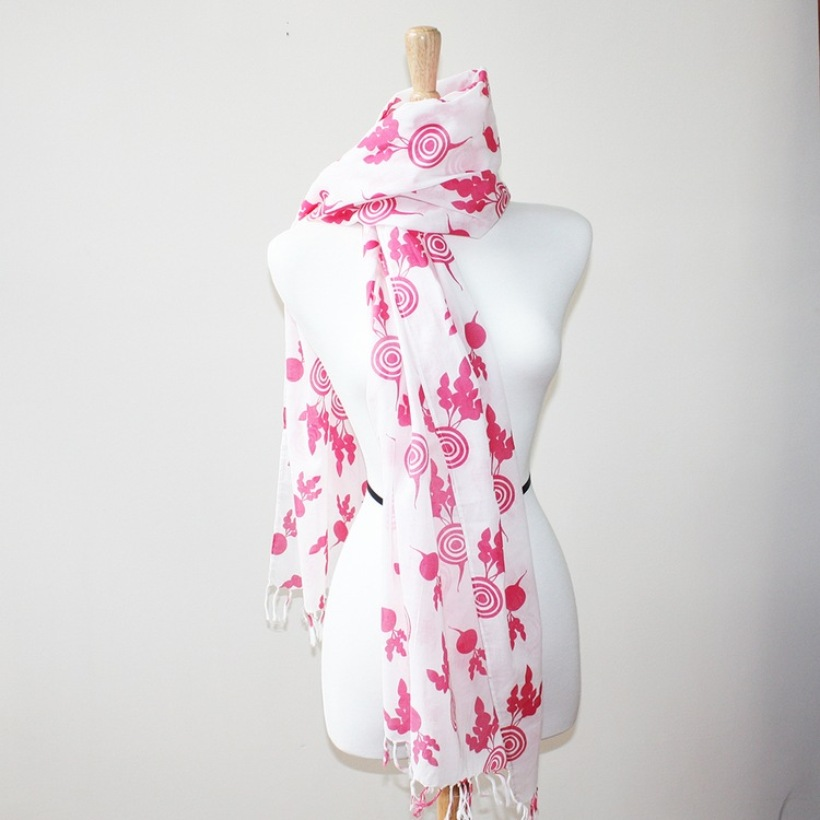 Beet Volie Scarf from Stolby | Kimberly Kalil Designs