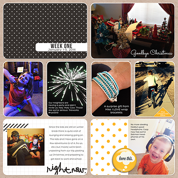 Project Life 2014 | Week 1 | Kimberly Kalil Designs