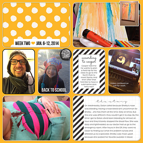 Project Life 2014 | Week 2 | Kimberly Kalil Designs