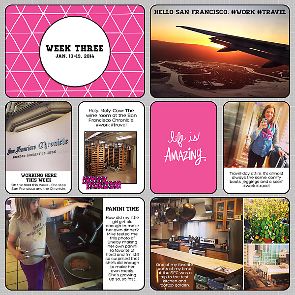 Project Life 2014 | Week 3 | Kimberly Kalil Designs