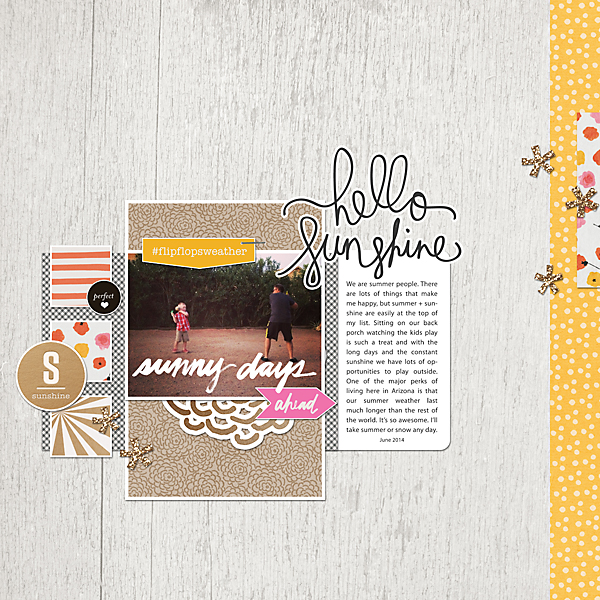 Sunny Days | Simple Scrapper | Kimberly Kalil Designs