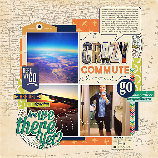 My Crazy Commute | Simple Scrapper | Kimberly Kalil Designs