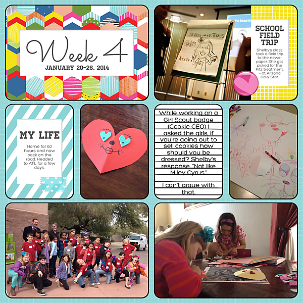 Project Life| Week 4 2014 | Kimberly Kalil Designs