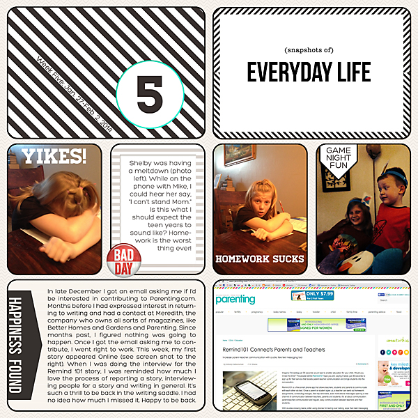 Project Life| Week 5 2014 | Kimberly Kalil Designs