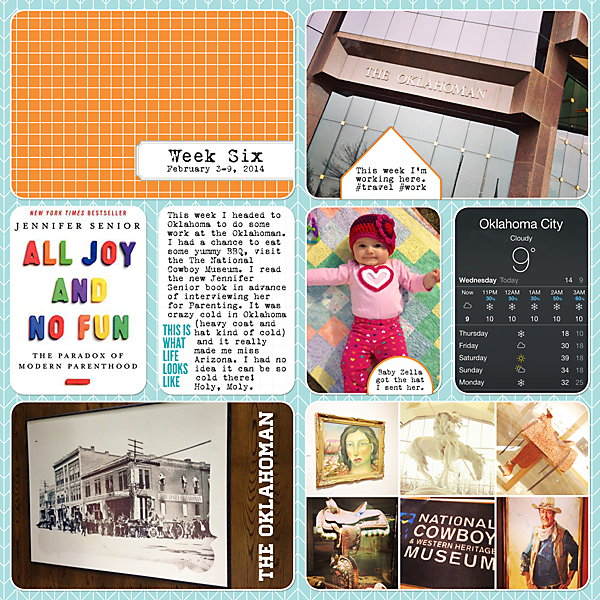 Project Life| Week 6 2014 | Kimberly Kalil Designs