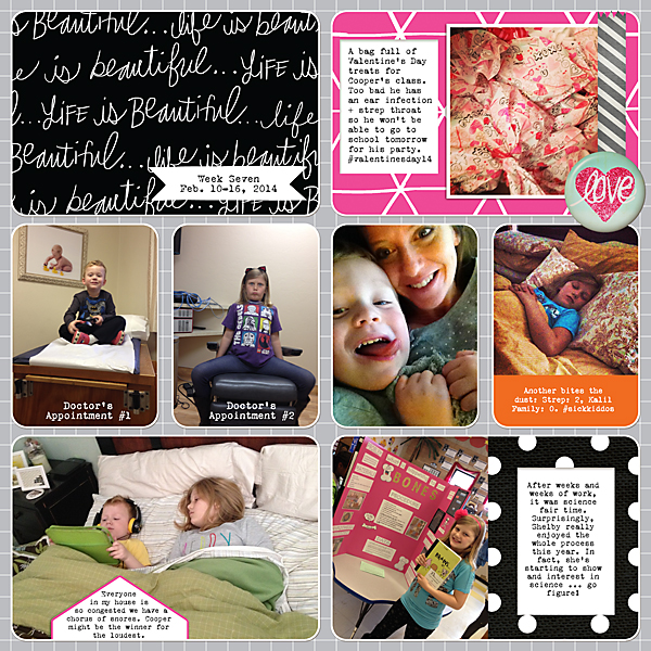 Project Life| Week 7 2014 | Kimberly Kalil Designs