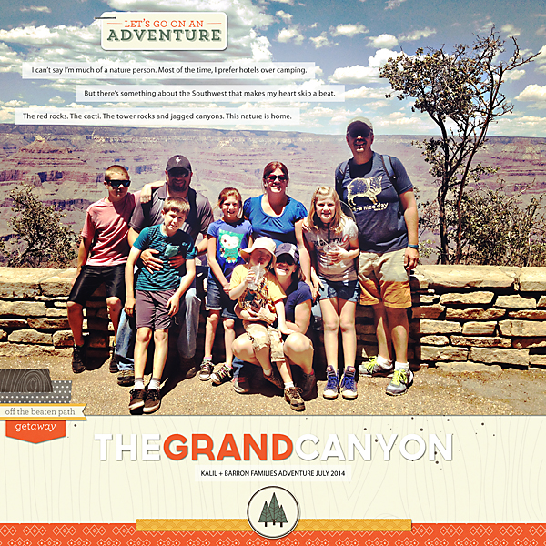 The Grand Canyon | Simple Scrapper | Kimberly Kalil Designs