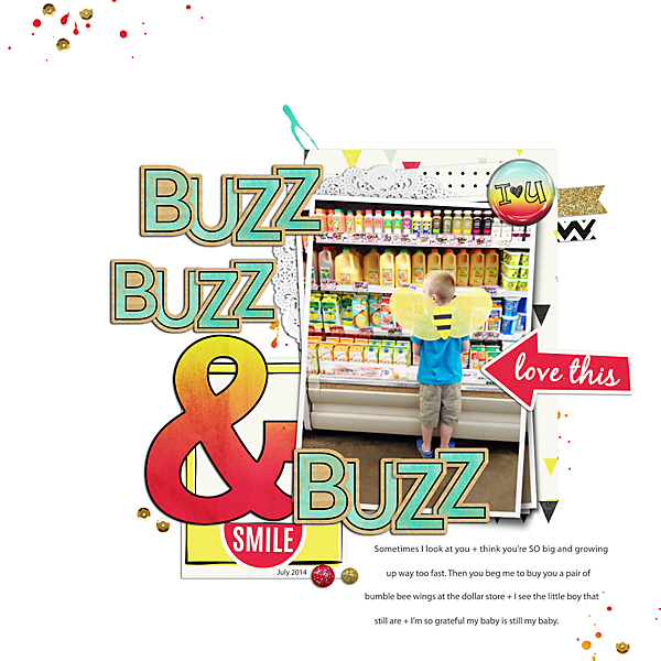Buzz, Buzz & Buzz | Simple Scrapper | Kimberly Kalil Designs