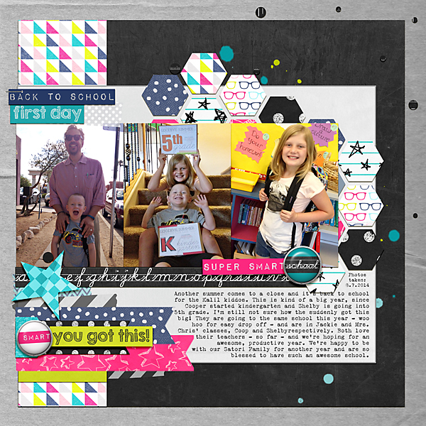 Back to School | Simple Scrapper | Kimberly Kalil Designs