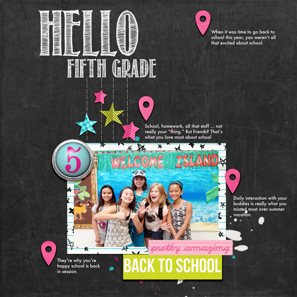 Hello Fifth Grade| Simple Scrapper | Kimberly Kalil Designs