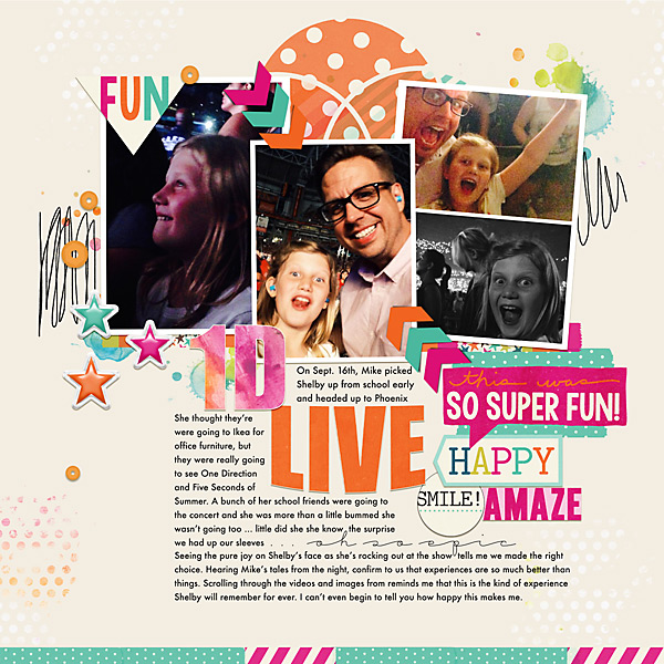 1D Live | Simple Scrapper | Kimberly Kalil Designs