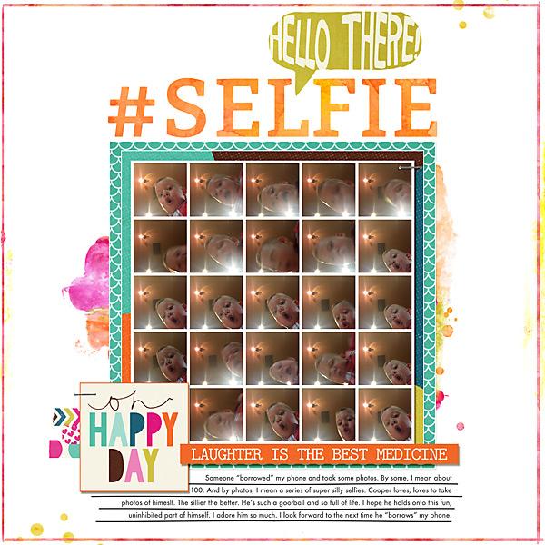 #Selfie | Simple Scrapper | Kimberly Kalil Designs