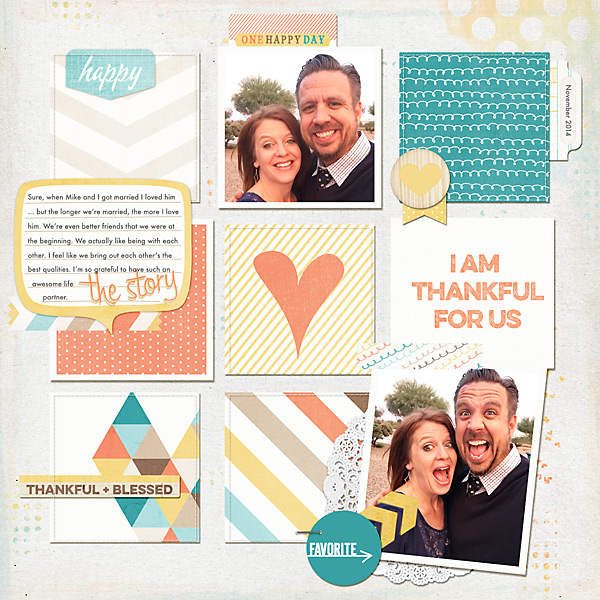 I Am Thankful For Us | Simple Scrapper | Kimberly Kalil Designs