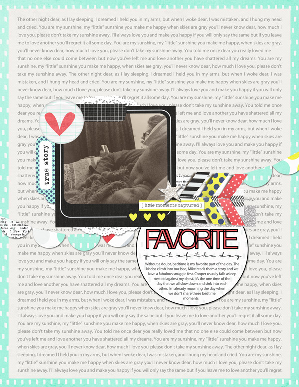 Favorite Time | Simple Scrapper | Kimberly Kalil Designs
