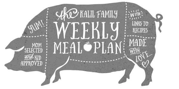 Health | Weekly Meal Plan | Kimberly Kalil Designs