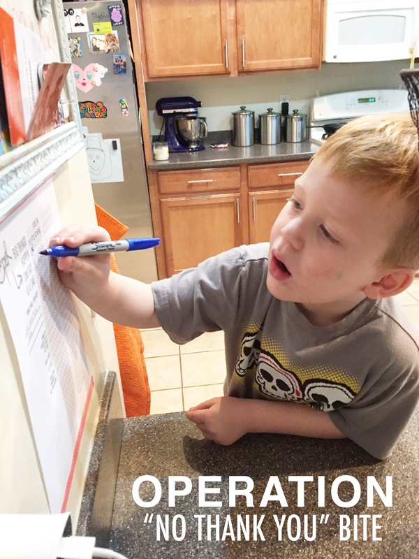 Parenting | Operation No Thank You Bite | Kimberly Kalil Designs