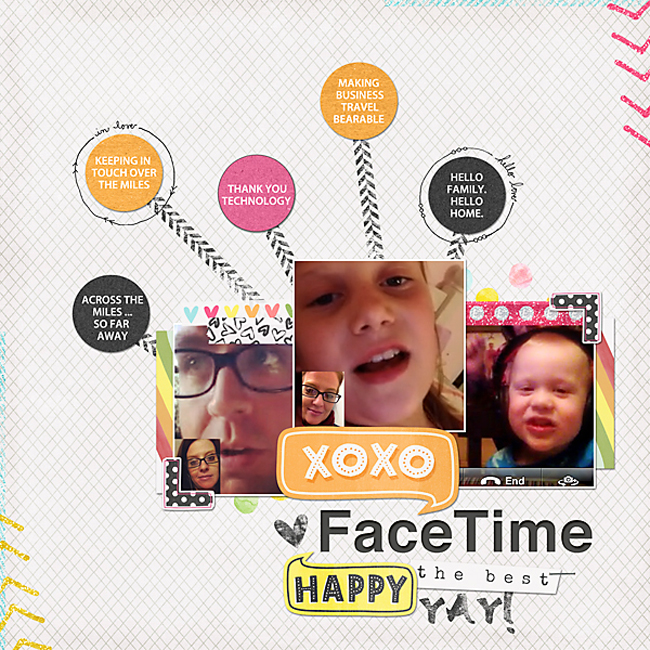 XO XO FaceTime | Simple Scrapper | Kimberly Kalil Designs
