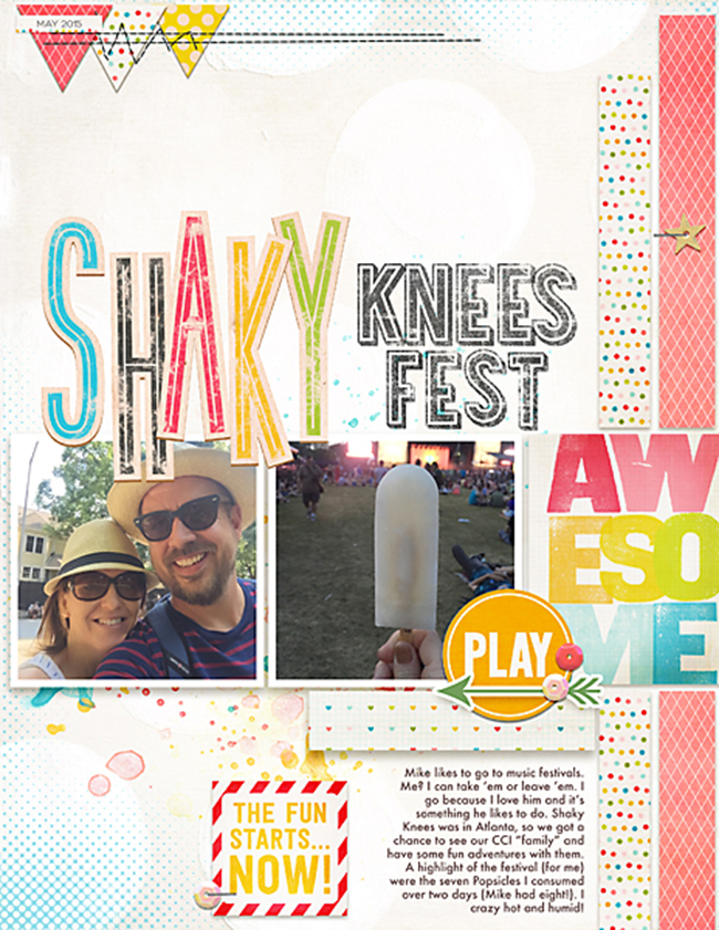 Shaky Knees | Simple Scrapper | Kimberly Kalil Designs