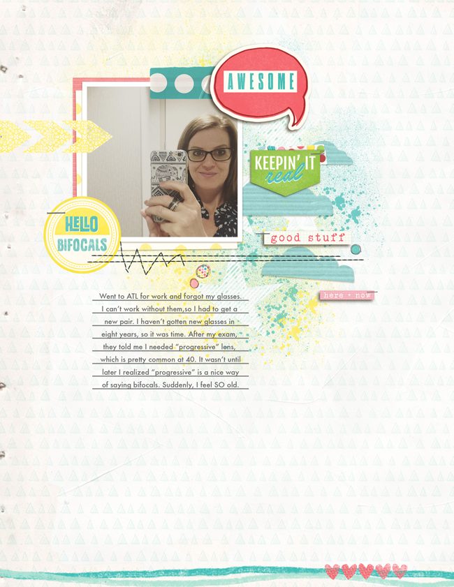 Hello Bifocals | Simple Scrapper | Kimberly Kalil Designs
