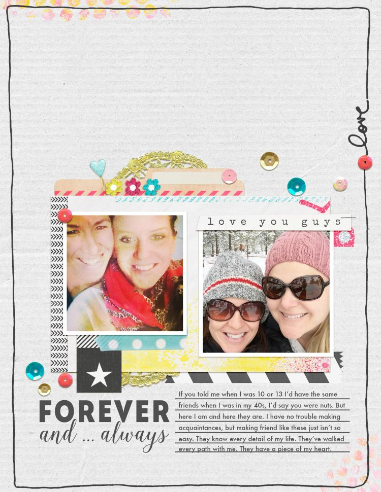 Forever and Always | Simple Scrapper | Kimberly Kalil Designs
