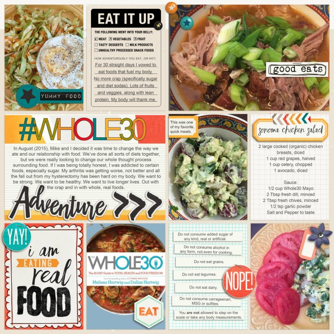 Whole30| Simple Scrapper | Kimberly Kalil Designs