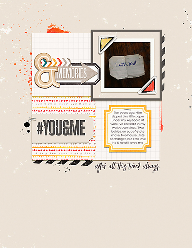 Love You | Simple Scrapper | Kimberly Kalil Designs