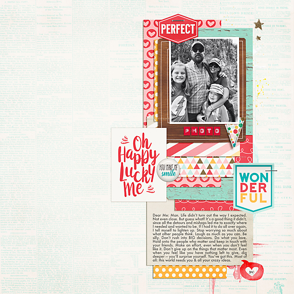 Oh Lucky Me | Simple Scrapper | Kimberly Kalil Designs