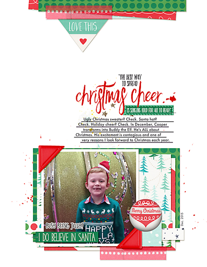 Buddy the Elf | Simple Scrapper | Kimberly Kalil Designs