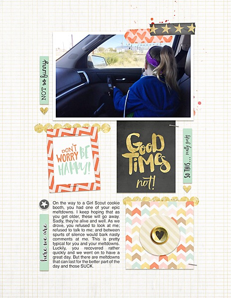 Good Times? Not! | Simple Scrapper | Kimberly Kalil Designs