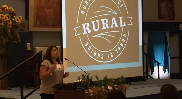 Liz Sosa speaks to Rural Policy Forum attendees.