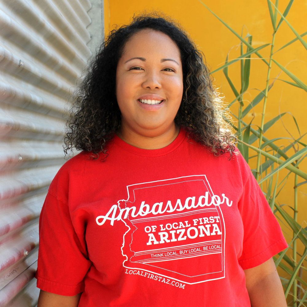 """Melia Smith """"I like to support local entrepreneurs that reflect the community I want to live in and through the Localist program I've been able to see how our community works collaboratively to make Arizona a better place to live."""""""