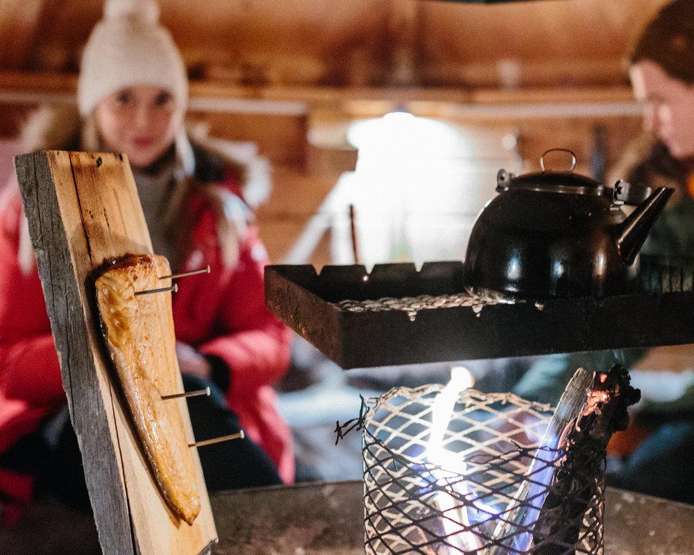 Laplander's warm hut