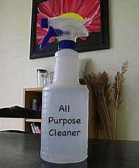 All purpose cleaner - 2 cups warm water1 tablespoon baking soda½ cup distilled white vinegar2 teaspoons lemon juiceDirections:Add the baking soda to warm water.  Stir to blend and then slowly add the vinegar and lemon juice.  Both of these will mildly react with the baking soda. Pour cleaner into spray bottle for use.