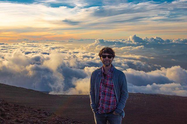 I'm on top of the world.  #maui #haleakala