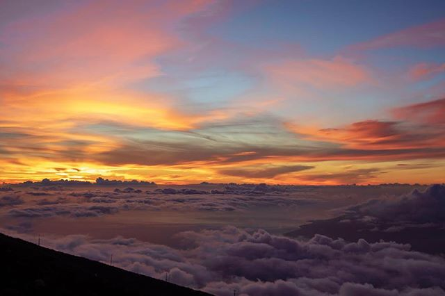 the #sunset on #haleakala summit #maui