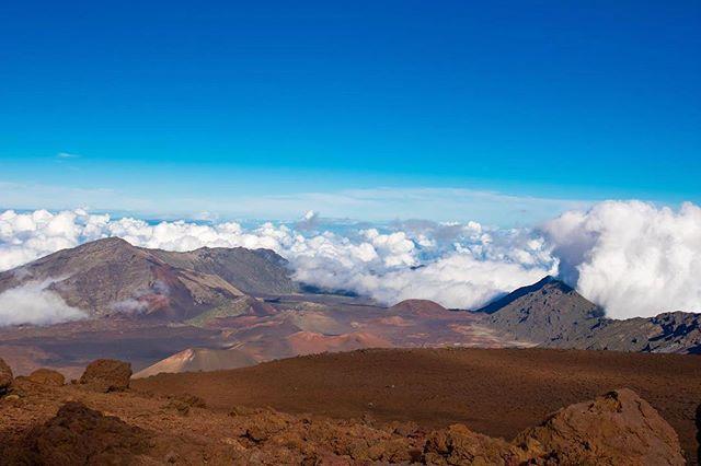 clear skies with a chance of lava #haleakala #maui