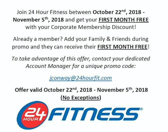 24 Hour Fitness - Membership Offer/Oferta de membresía de gimnasio