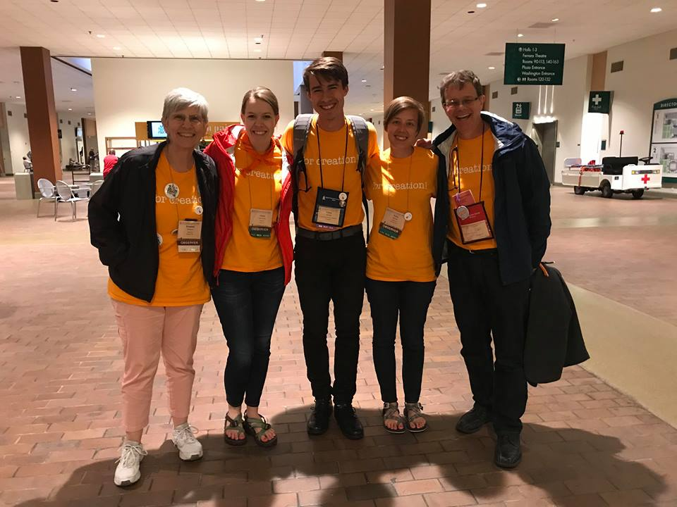 PPF Delegates at PCUSA in St. Louis (Betsy Simpson, Jessie Light, Casey Aldridge, Emily Brewer, Rick Ufford-Chase) - June 2018.jpg