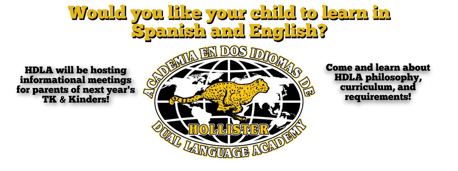 Would you like your child to learn in Spanish and English